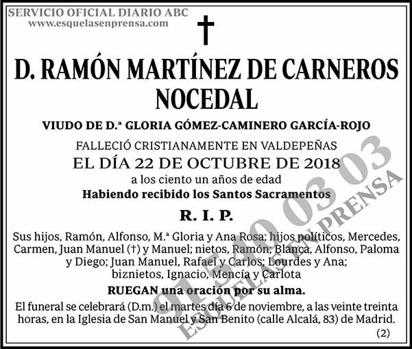 Ramón Martínez de Carneros Nocedal